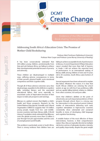 Research brief: Addressing South Africa's Education Crisis: The Promise of Mother-Child Booksharing
